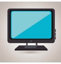 Tv retro design vector