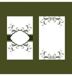 Green floral design card with vetch vector