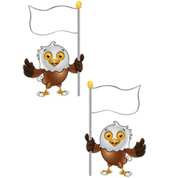 Bald Eagle Character 7 vector image