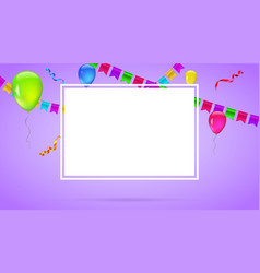 celebrate colorful background with flying colorful vector image