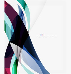 elegant wave background vector image