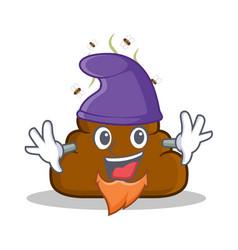 Elf poop emoticon character cartoon vector