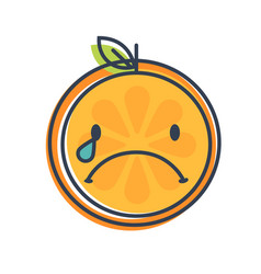 Emoji - tears crying orange isolated vector
