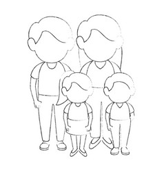 family stand up vector image