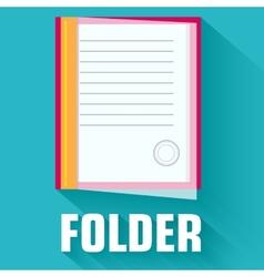 flat folder icon concept design vector image vector image