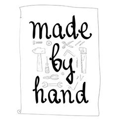 Handmade hand lettering vector