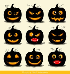 Happy halloween design background with halloween vector