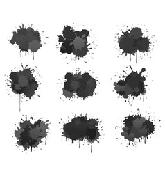 ink blobs vector image vector image