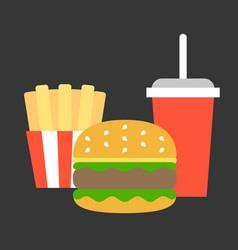 junk food flat design vector image vector image