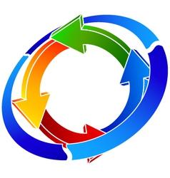 logo recycling vector image vector image