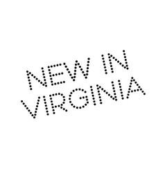 New in virginia rubber stamp vector