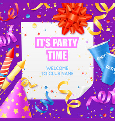 party announcement invitation festiv template vector image vector image