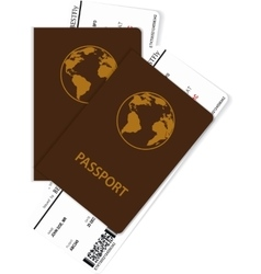 Passport and boarding pass vector