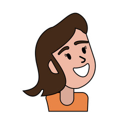 portrait female cartoon image vector image vector image