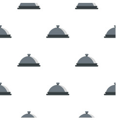 Restaurant cloche pattern flat vector