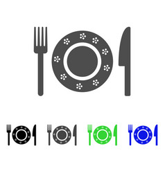 Restaurant tableware flat icon vector