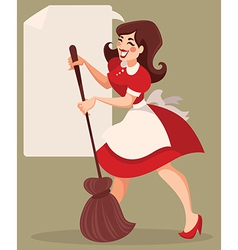 Retro cleaning vector