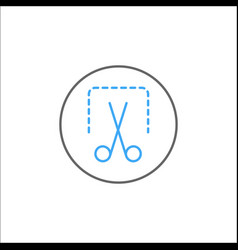 Screenshot solid icon mobile sign and scissors vector