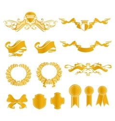 Set of heraldic elements vector image