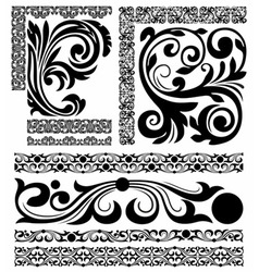 Set of patterns vector image vector image