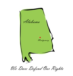 State of Alabama vector image