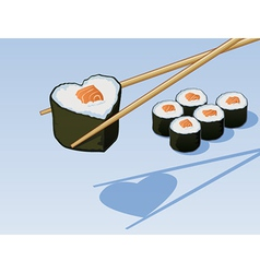Sushi Love vector image vector image