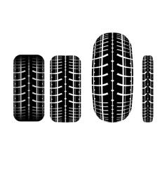 Tire track 2 vector