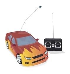 Toy Car with Remote Control vector image vector image