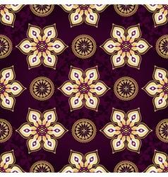 Vintage dark violet seamless pat vector