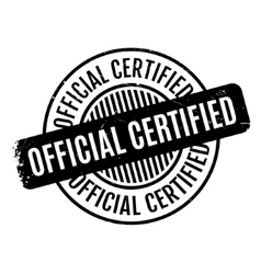Official certified rubber stamp vector