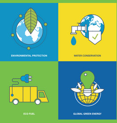 environmental protection preservation of resource vector image