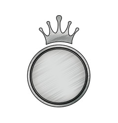 Crown decorative emblem vector