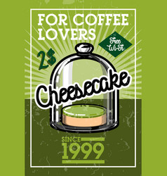 Color vintage cafe banner vector