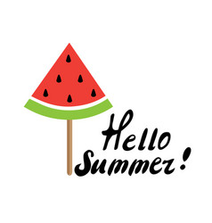 Watermelon popsicle vector