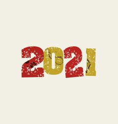 2021 concept stamped word art vector