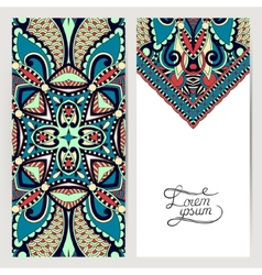 Decorative label card for vintage design ethnic vector