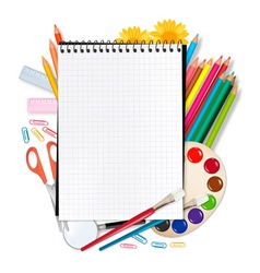 School equipment vector
