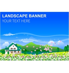 Landscape background banner vector