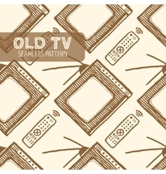 Old tv seamless pattern vector