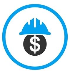 Dollar safety icon vector