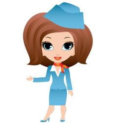 stewardess cartoon vector image