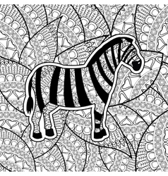 Animal design adult coloring concept white vector