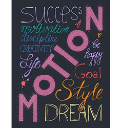 Success lifestyle lettering vector