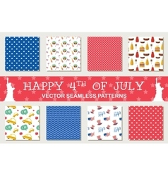Seamless patterns for independence day of america vector
