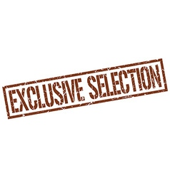 Exclusive selection stamp vector