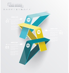 Abstract infographics design with numbered vector
