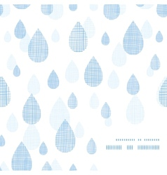 Abstract textile blue rain drops corner frame vector