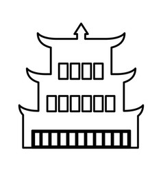 Asian building castle icon vector
