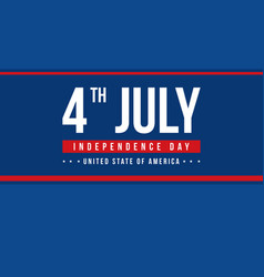 Banner style independence day celebration vector