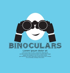 Binocular EPS10 vector image vector image